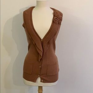 Banana Republic brown sleeveless sweater vest